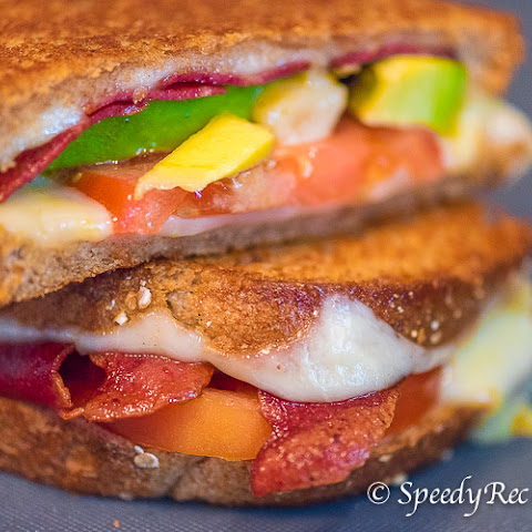 Turkey Bacon and Avocado Grilled Cheese Sandwich