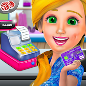 Fashion Store Cashier Girl - Kids Game Icon