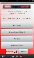 Screenshot of Canada Trivia