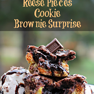 Reese's Pieces Cookie Brownie Surprise