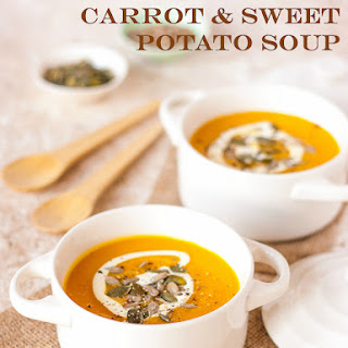 Spiced Pumpkin, Carrot & Sweet Potato Soup