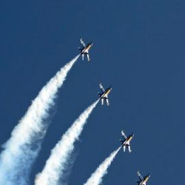 Angels High by Bill Telkamp - Transportation Airplanes ( airplanes, airplane, jet, airshow, blue angels )