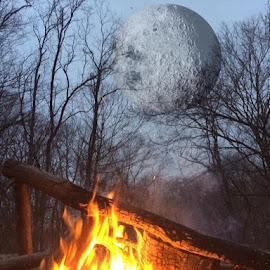 Night sky by Virginia Howerton - Digital Art Places