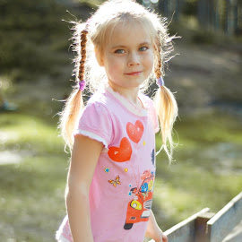 by Nadezda Tarasova - Babies & Children Child Portraits ( girl, nice, childhood, sunlight )