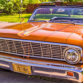 Falcon From the Front by Pat Lasley - Transportation Automobiles ( classic car, automobile, ford falcon, falcon, ford )