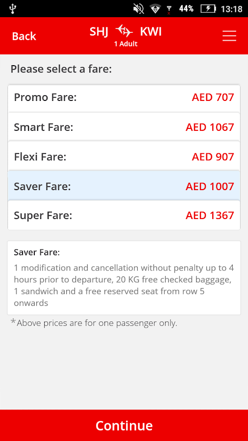 Air Arabia (official app) Screenshot 3