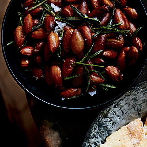 Brined and Roasted Rosemary-Chile Almonds