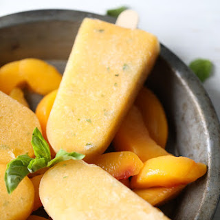 Basil Peach Margarita Popsicles