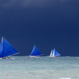Sailing before storms by Jeece Gallay - Sports & Fitness Tennis ( boats, philippines, borakay )