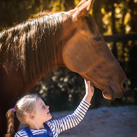 by Cheryl Hesketh - Babies & Children Children Candids ( girl, girl and horse, horse, fun )