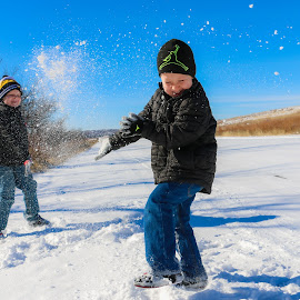 Snow Fight by Kathy Suttles - Babies & Children Children Candids
