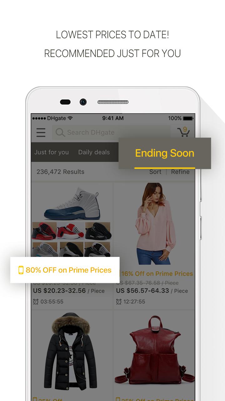 DHgate-Online Wholesale Stores Screenshot 1