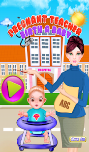 Pregnant teacher baby games - screenshot