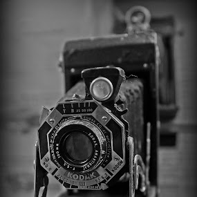 Old bellows camera by Thomas Stroebel - Artistic Objects Antiques ( bellows camera, old, black and white, camera, bw, antique )