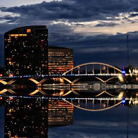 by Scott Bennett - City,  Street & Park  Night