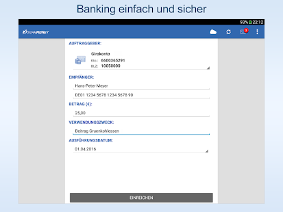 StarMoney: Banking fürs Tablet Screenshot