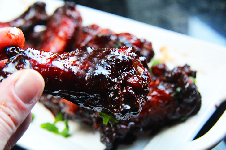 Chinese 5 Spice Chicken Wings With Soy, Balsamic Reduction Glaze ...