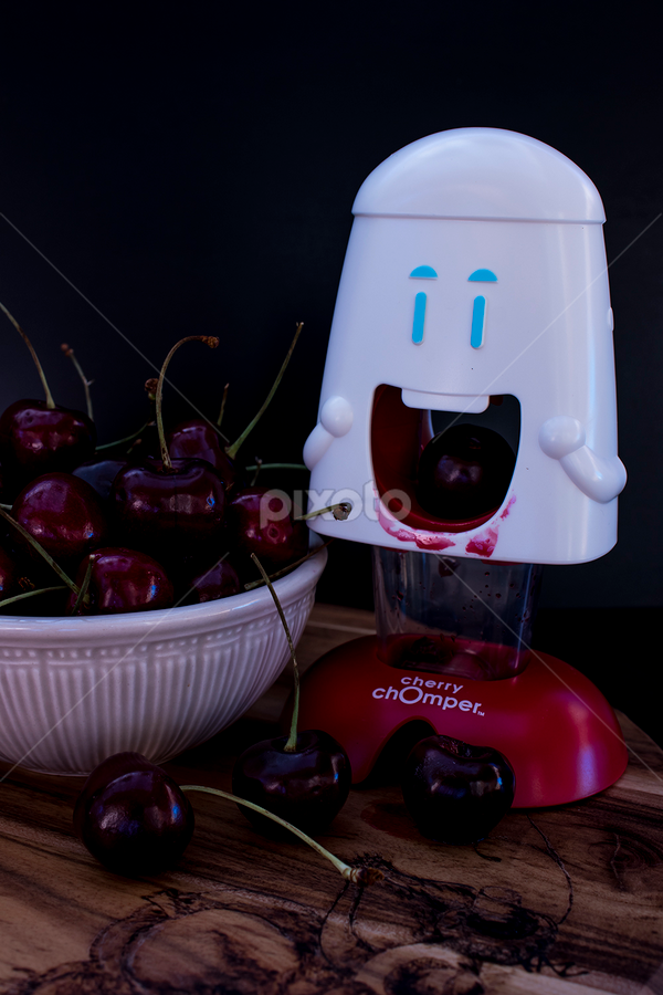 Cherry Muncher by Mel Stratton - Food & Drink Fruits & Vegetables ( cherry, seed, cherries, pitting, fruit,  )