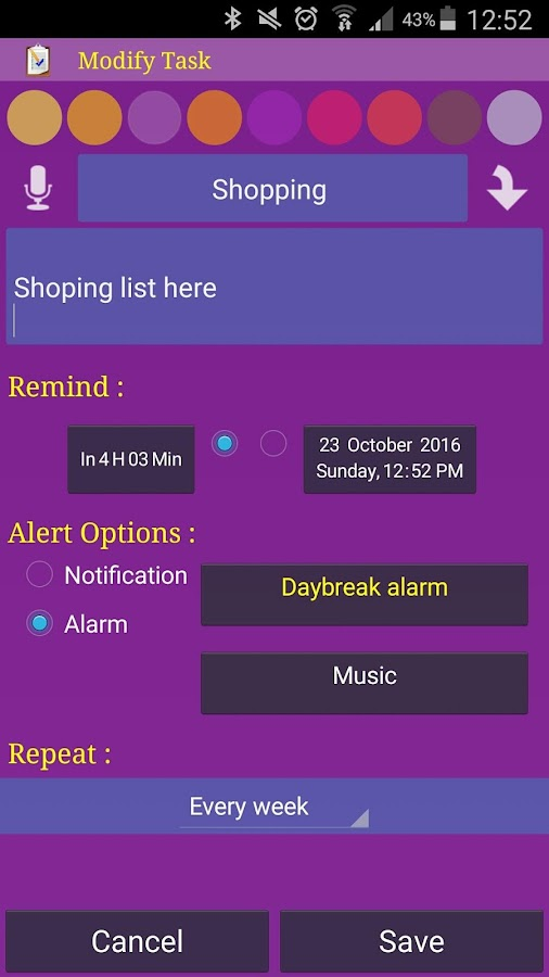 Alarm Plus Millenium Screenshot 2