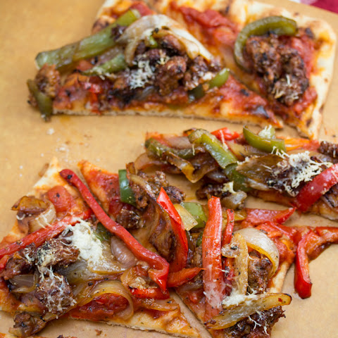 Spicy Italian Sausage and Peppers Pizza