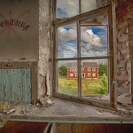 Overture by Buffan Walter - Buildings & Architecture Decaying & Abandoned ( sweden, building, houses, urbex, school, rurex, window, summer, bricks, decay, abandoned )