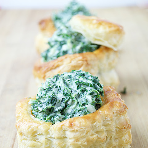 Creamed Spinach Pastry Cups