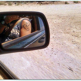 Bass Cleff Tattoos. by Denny Paul - People Body Art/Tattoos ( inthemirrorphotocontest, moving, color, newmexico, tattoo )