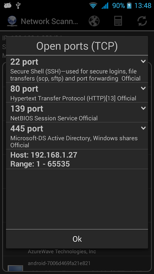 Network Scanner Screenshot 1
