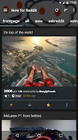 Screenshot of Now for Reddit