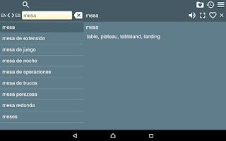 Screenshot of English Spanish Dictionary II+