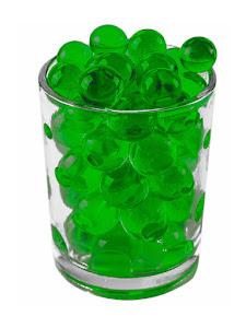 Гидрогелевые шарики L, зеленые