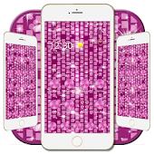 Sparkling pink purple theme APK for Bluestacks