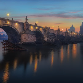 Charles Bridge by Jimmy Kohar - City,  Street & Park  Vistas