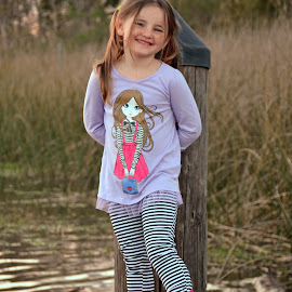Cobie and the River by Wendy  Walters - Babies & Children Children Candids