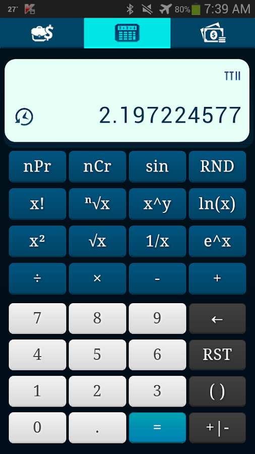 TTII Financial Calculator Screenshot 0