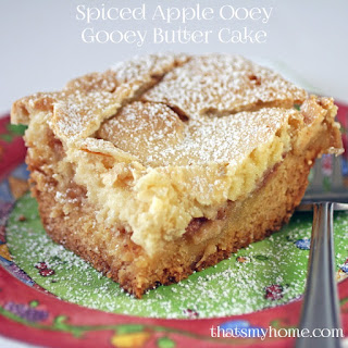 Spiced Apple Ooey Gooey Butter Cake