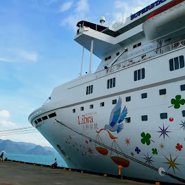 by Alvin Ngow - Instagram & Mobile Android ( landscapes, sky, waterscapes, relax, asia, relaxing, tourist attractions, ship, transport, cruiseship, scenery, boat, sea, star cruise, outdoor, cruise, travel, photography )