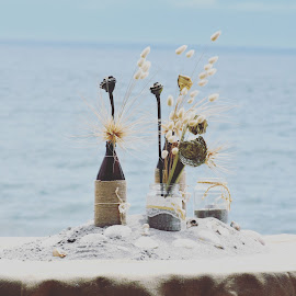 by Alexei Zarya - Artistic Objects Other Objects ( sand, flax, ocean, bottles, jars )