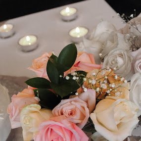 Arrangement by Adria Martin - Wedding Details