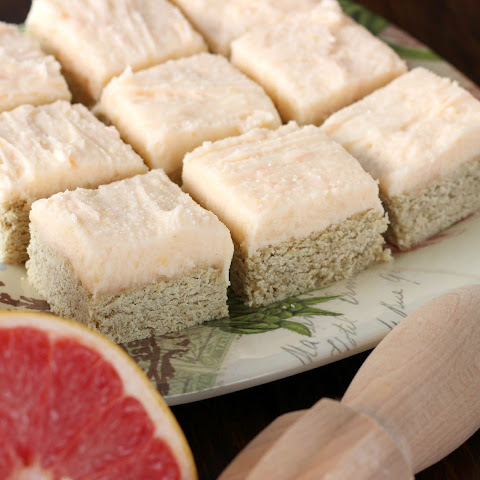 Grapefruit Frosted Snickerdoodle Cookie Bars