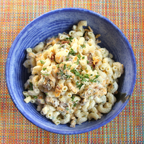 Buttermilk Bacon Cheddar Macaroni Salad