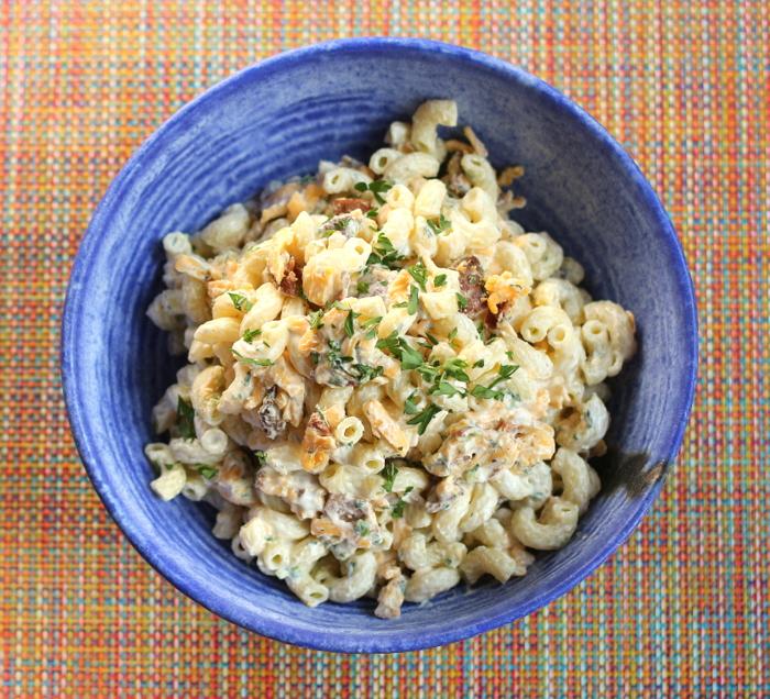 Buttermilk Bacon Cheddar Macaroni Salad Recept | Yummly