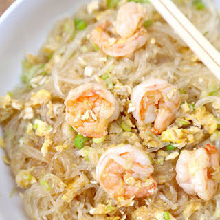 Stir Fried Glass Noodles with Shrimp