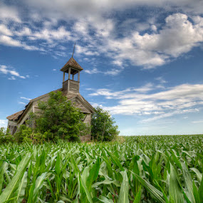 School's Out by Ken Smith - Buildings & Architecture Decaying & Abandoned ( nebraska, weathered, country school )