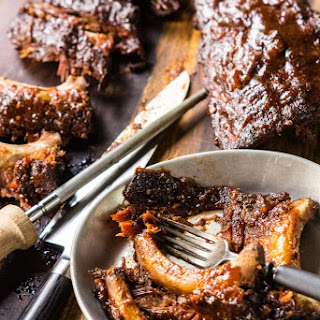 Omaha Steaks Apricot Chile Glazed Slow Roasted Baby Back Ribs