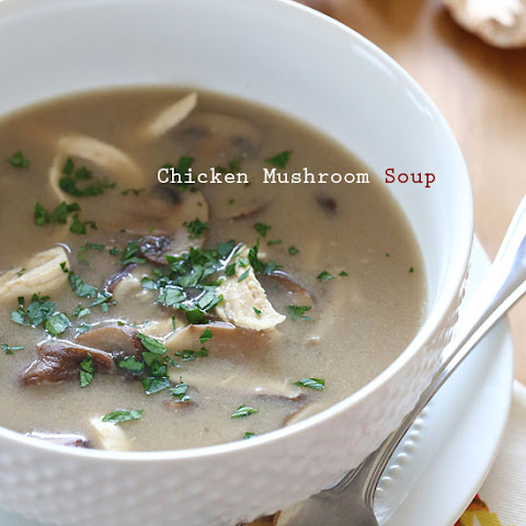 Mushroom And Chicken Soup | Chicken Noodle Soup, Vegetable Soup ...