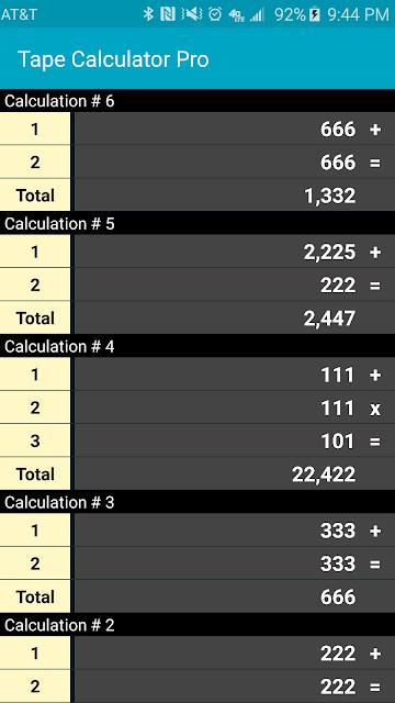 Tape Calculator Pro screenshots