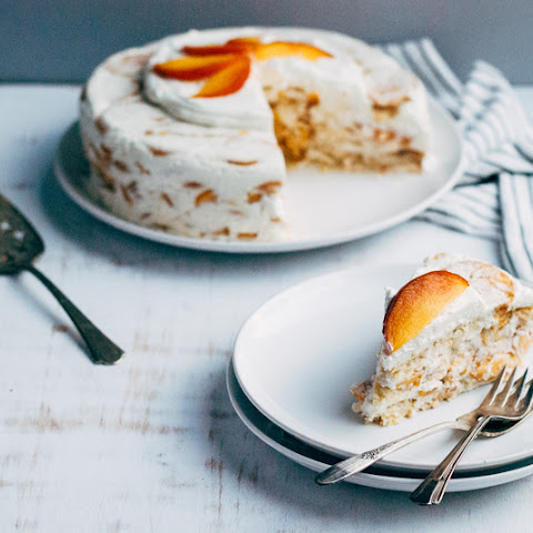 No-Bake Ricotta Peach Icebox Cake