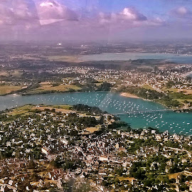 Dinard, from the plain by Ciprian Apetrei - City,  Street & Park  Vistas ( plain view, aerial, brittany, cityscape, panorama )