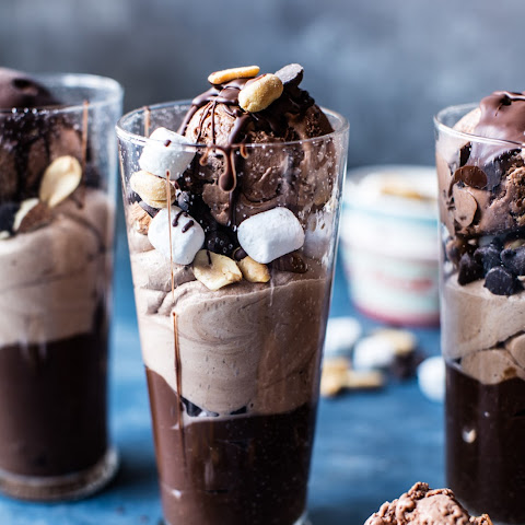 Rocky Road Pudding Parfaits.